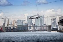 Event TV: Jaguar unveils XF with high-wire crossing