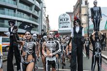 In pictures: TransferWise stages Halloween march