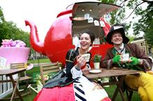In pictures: Pimm's kicks off summer activations with giant teapot