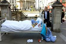In pictures: TransferWise stages City sleeping stunt