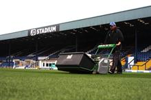 Lightweight mower best for wet conditions at Bury F.C.
