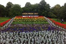 Park marks Green Flag with LGBT floral display