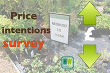 Plant pricing intentions survey - for ornamentals growers and garden retailers