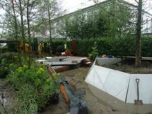Sewer delays start of Chelsea Flower Show garden construction