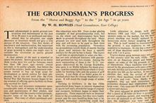 The groundsman's progress