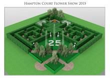 Hampton Court maze comes alive with Easigrass