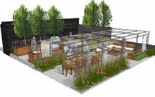 """""""Almost show garden"""" for RHS Chelsea Flower Show main avenue"""
