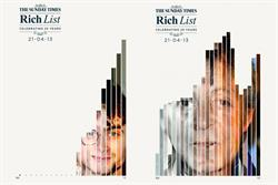 Sunday Times illustrates the rise and fall of celebrity wealth