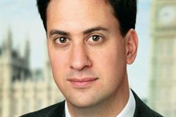 Labour leader Miliband attacks retailers in maiden speech