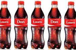 Coke boss salutes 'brave' personalised bottle campaign