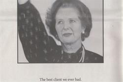 M&C Saatchi pays tribute to Thatcher with 'best client we ever had' ad