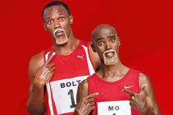 Virgin Media makes tracks to Mo Farah for press ads