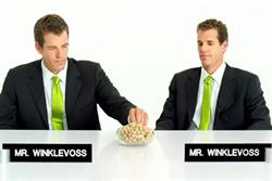 Winklevoss twins mock Facebook in nuts ad