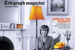 Age UK to run thermal cover wrap for Telegraph magazine
