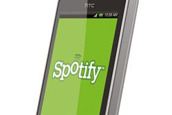 Online music service Spotify in agency talks