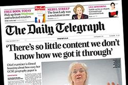 NEWSPAPER ABCs: The Daily Telegraph circulation falls below 600,000