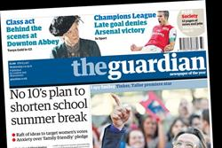 Guardian to be 20p more expensive than Times and Telegraph