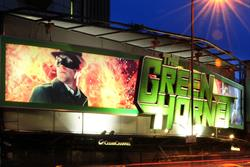 Sony employs 3D billboard for The Green Hornet