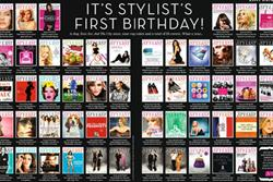 Stylist magazine celebrates first year's worth of covers