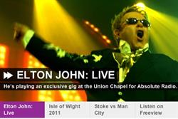 Absolute Radio to introduce high definition audio with Elton John