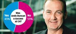 Opinion divided on whether Duncan's tenure at Channel 4 has been a success