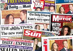 Royal engagement fails to provide newspaper lift