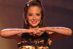 X Factor's Tulisa covers up her tattoo amid Ofcom probe