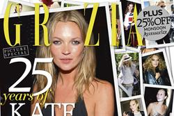 Grazia toasts Kate Moss with special anniversary issue