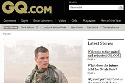 GQ.com relaunches with simpler navigation