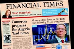 FT 'for sale' with a £1bn price tag, claims Telegraph