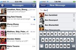 Facebook moves into instant mobile messaging