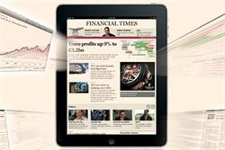 FT iPad app nears half a million downloads