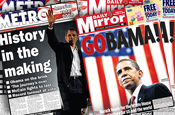 UK newspapers celebrate Obama victory