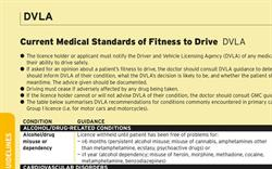 Current Medical Standards of Fitness to Drive (DVLA Guidance)