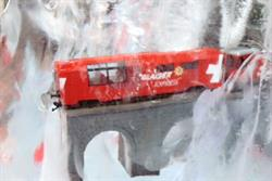 Switzerland Tourism drops ice blocks around London