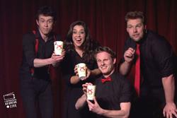 Kabuto Noodles airs live improvised comedy ad break