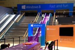 Microsoft creates giant slide to promote 'fast and fun' Windows 8