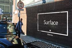 Microsoft whips up 'Banksy-esque' Surface street art