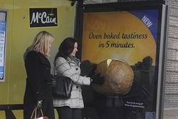 McCain cooks up potato-scented bus stop campaign