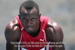 Usain Bolt returns in new Virgin Media ad