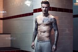 David Beckham strips for H&M Bodywear range