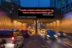 Message2London enlists celebs for digital billboard campaign