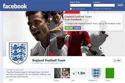 Thousands flock to Twitter and Facebook during England game