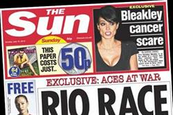 NEWSPAPER ABCs: Sun on Sunday falls below 2m mark in December