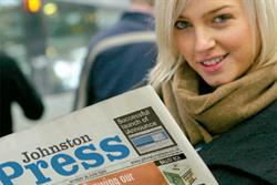 Johnston Press ad revenues continue downward path
