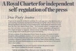 Newspaper groups reject state regulation and create rival charter