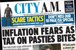 CityAM to up distribution by 30% to around 130,000 copies