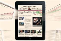 Financial Times iPad app brings in £1m