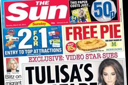 NEWSPAPER ABCs: Sunday's Sun loses a quarter of launch circulation