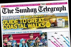 Sunday Telegraph publishes its first-ever quality paper cover wrap